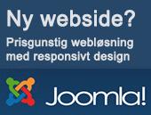 Joomla websløsning med responsivt design